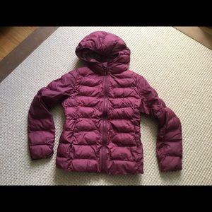 Uniglo Hooded Puffer Coat, Size 9-10